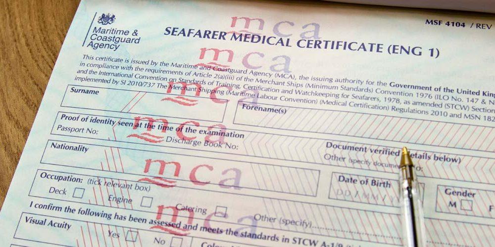 Seafarer medical certificate