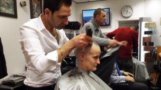 Lynn getting her head shaved for Movember