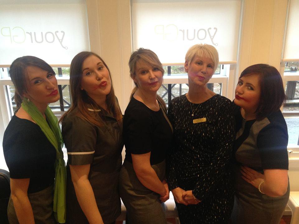 YourGP staff taking #SmearForSmear photo