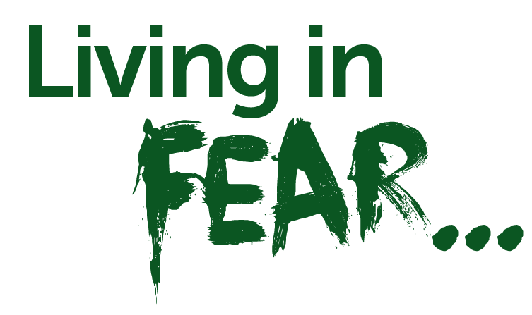 Living in fear logo