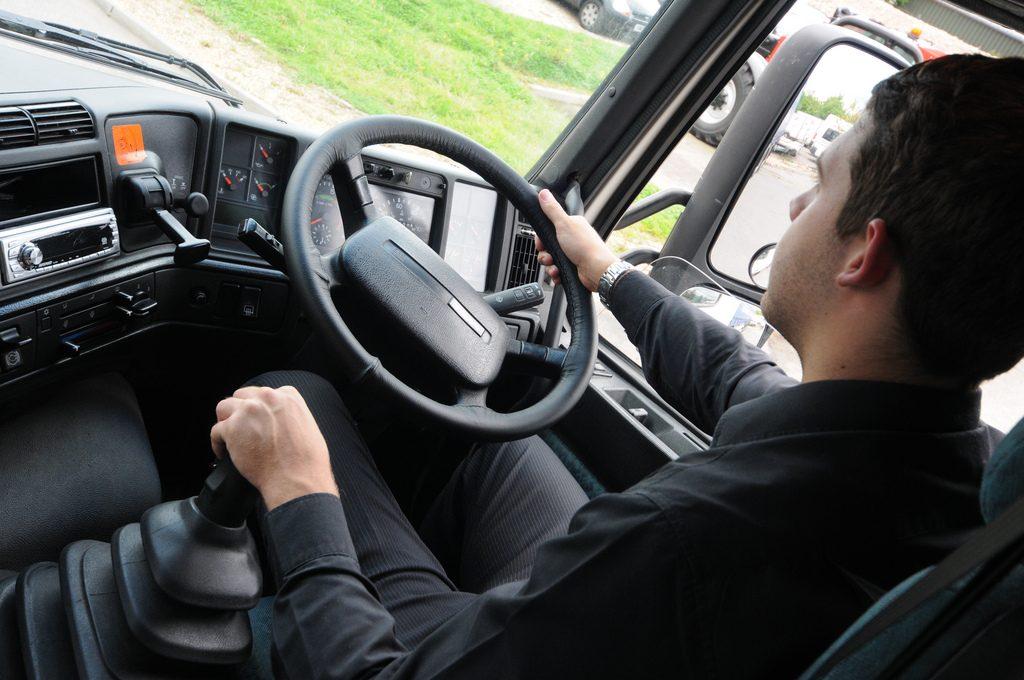 Man driving HGV