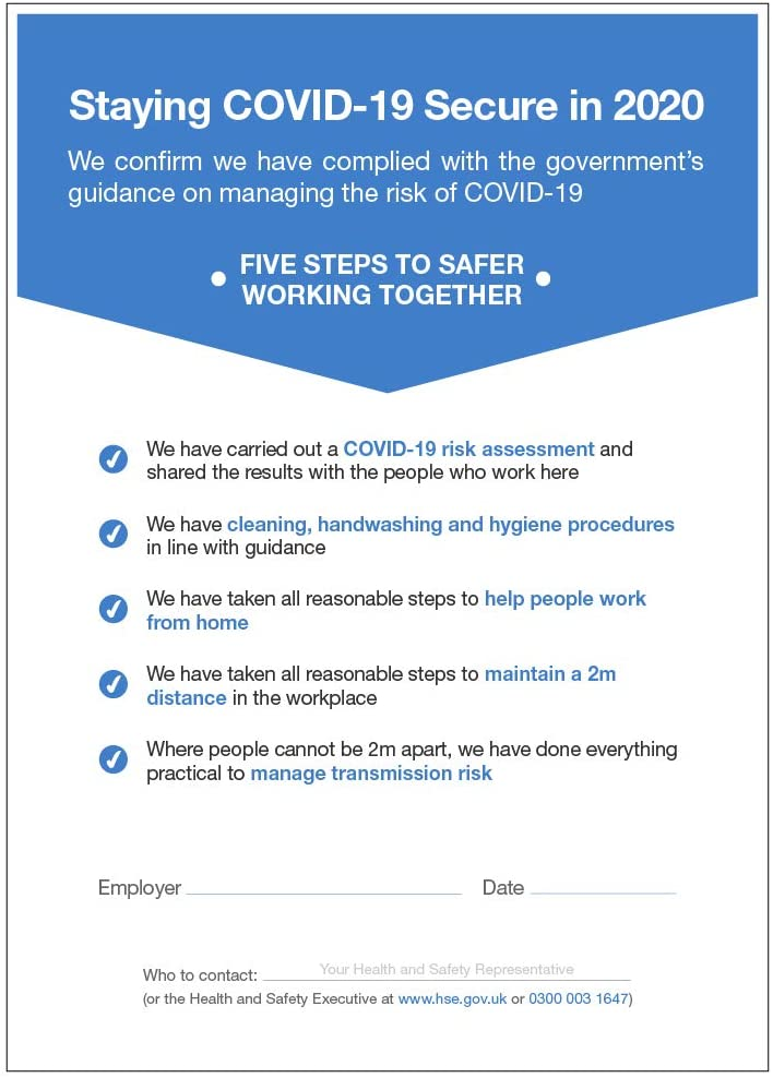 How to ensure your office is COVID-19 secure